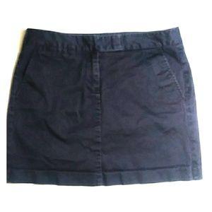 J.Crew Chino skirt Navy straight line 8